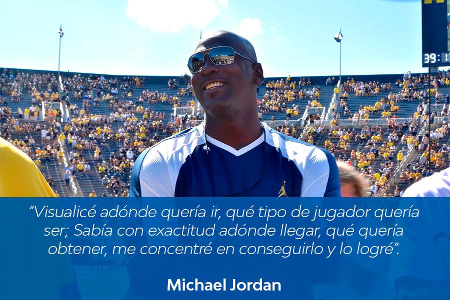 frase visualización michael jordan